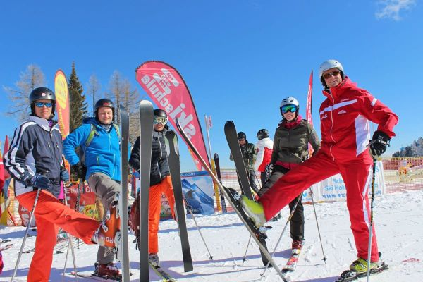 Learn to ski and snowboard in a group or with a private instructor