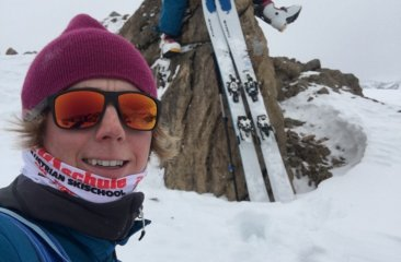 First Skitour of the season Skiguide Tom with client Michi